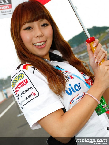 Umbrella girl du grand prix moto Motegi 2011