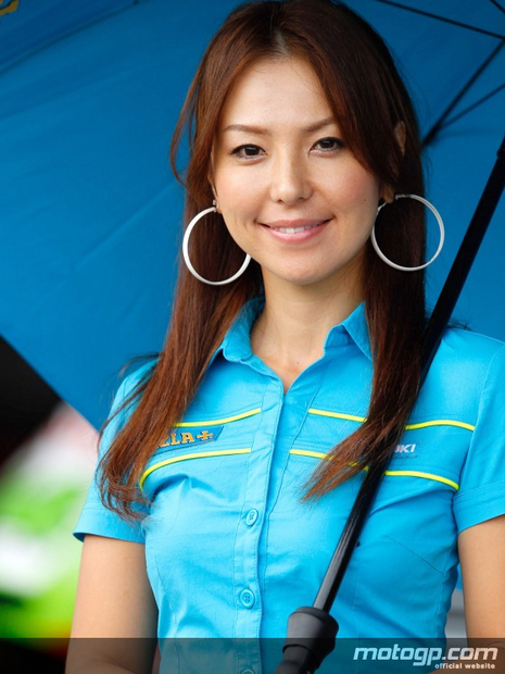 Umbrella girl du motogp Motegi 2011