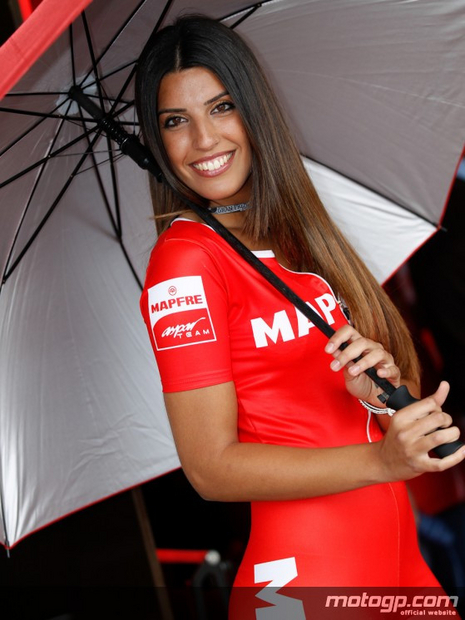 Umbrella girl du motogp Jerez 2012