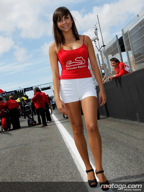 Paddock girl du grand prix moto Estoril 2012