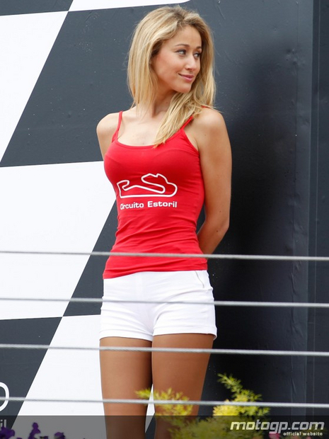 Paddock girl du grand prix moto du Portugal 2012