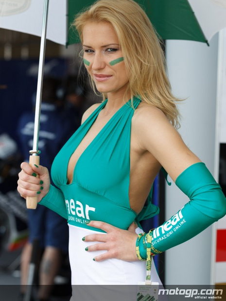 Umbrella du motogp sur le circuit de Estoril 2012