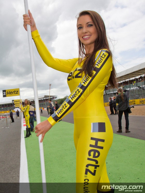 Umbrella girl du motogp Silverstone 2012