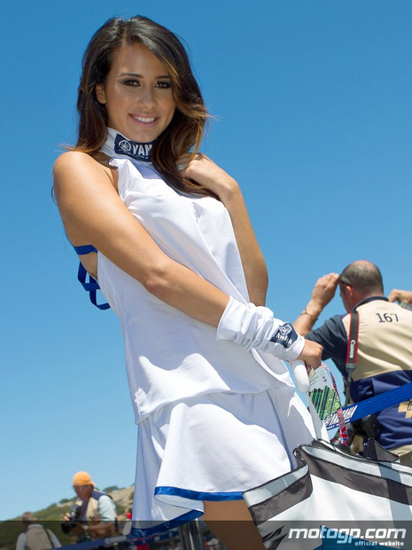 Umbrella girl du motogp Laguna Seca 2012