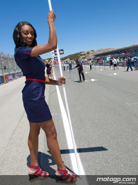 Umbrella girl du motogp des USA 2012